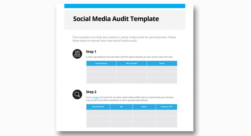 social media audit template image