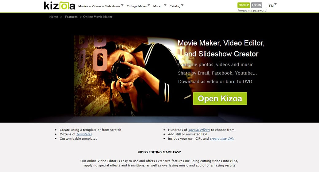 movie maker online video editor image