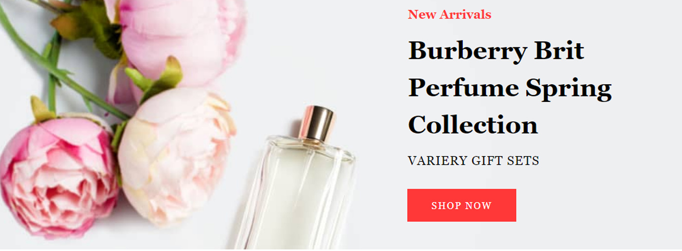 Website Template for Perfume Store
