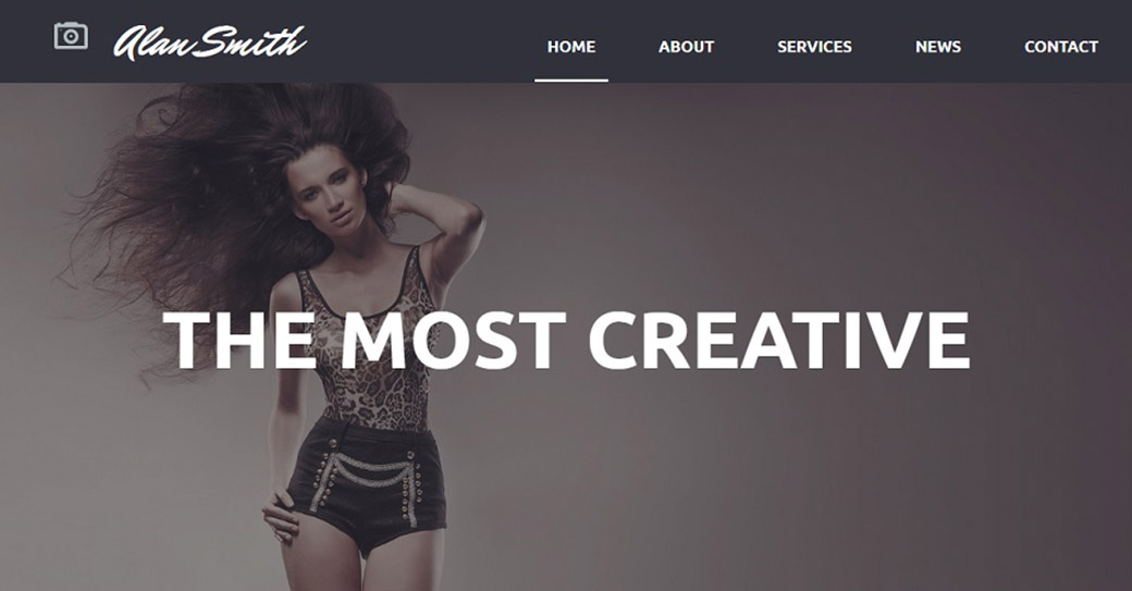 Artist Gallery Website Template for Photographers