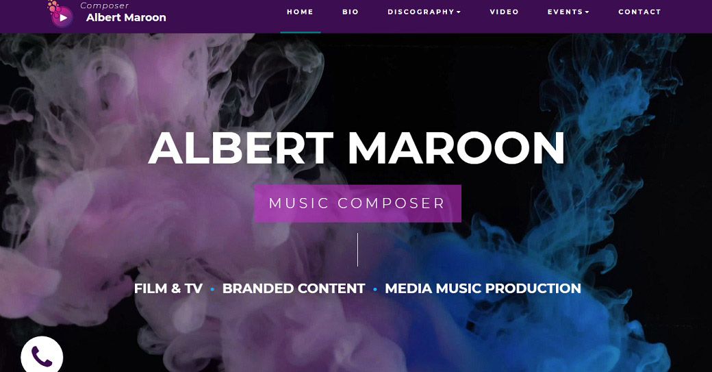 Music Composer Template for Personal Site