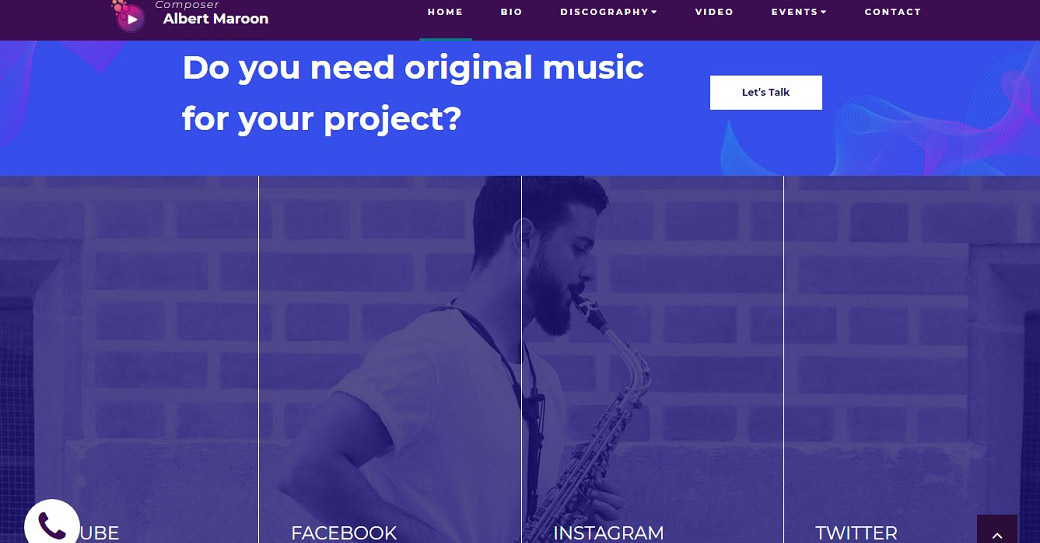 Music Composer Website Template
