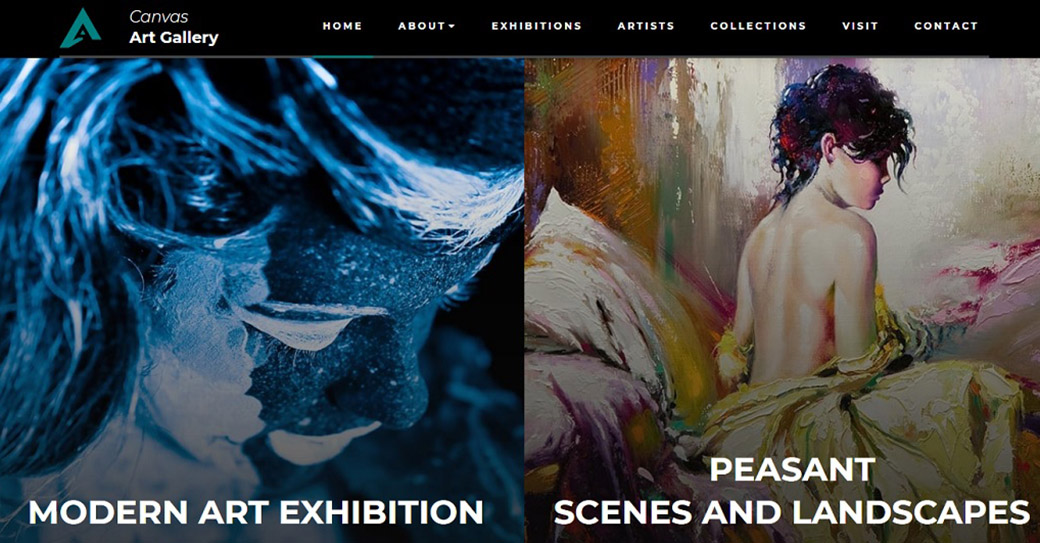 Art Gallery Website Template for Fine Art Sites
