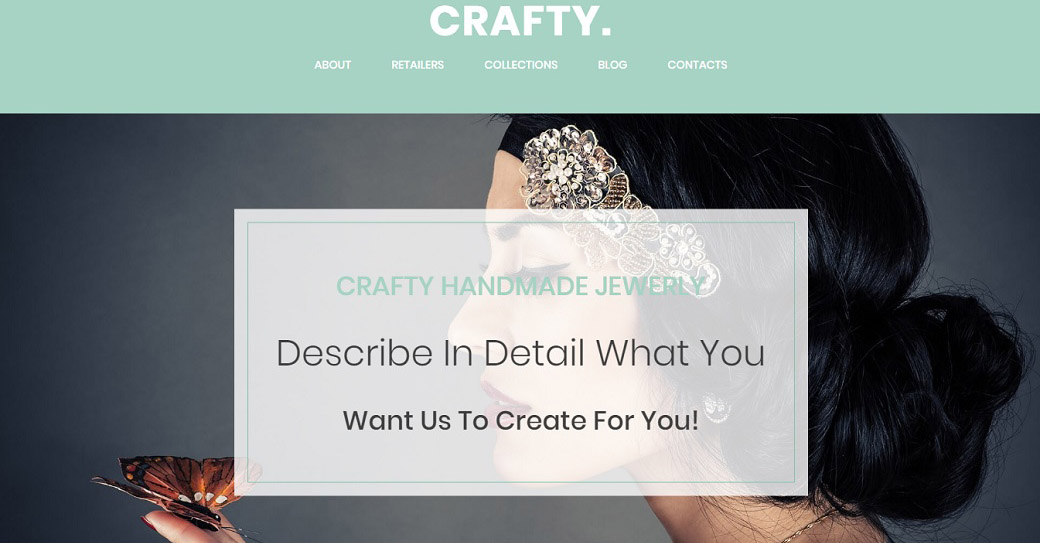 Handmade Jewelry Website Template for Jewelry Artists