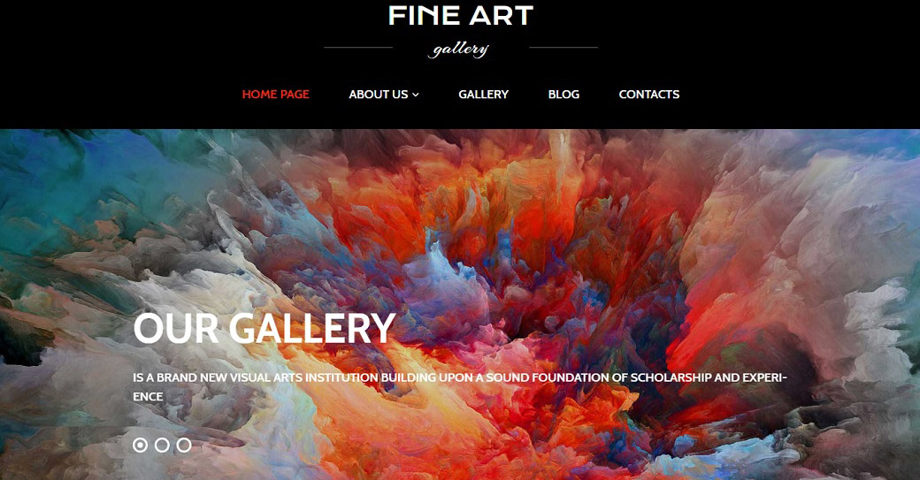 Art Gallery Website Design for Exhibition Site