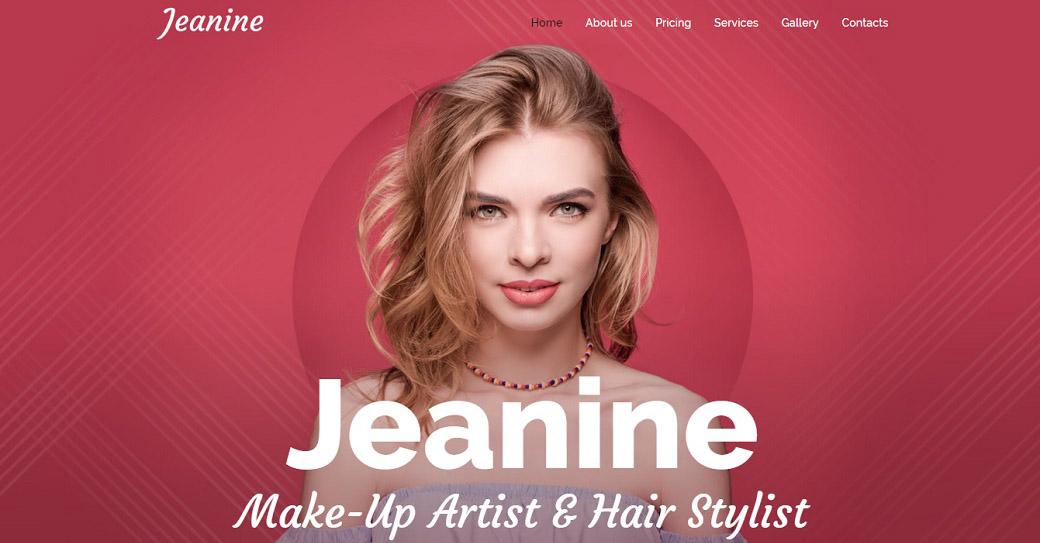 Makeup Artist Website Template for Stylist Portfolio