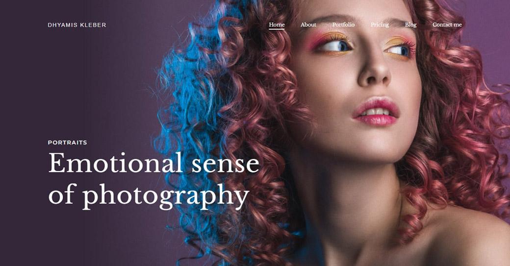 Photographer Portfolio Website Template for Artists