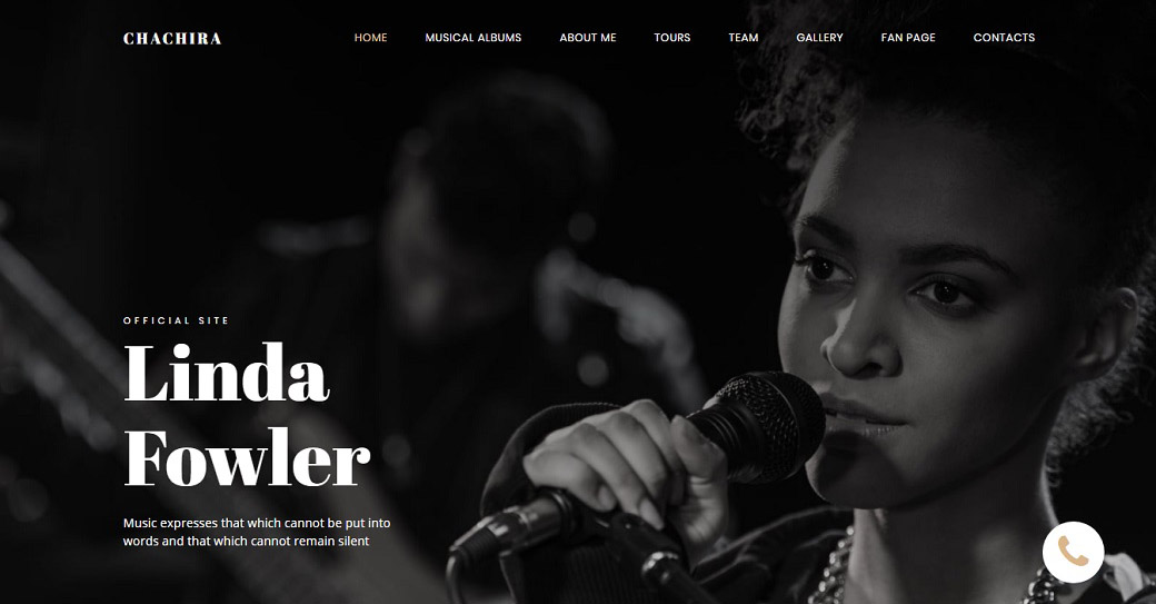 Songwriter Website Template