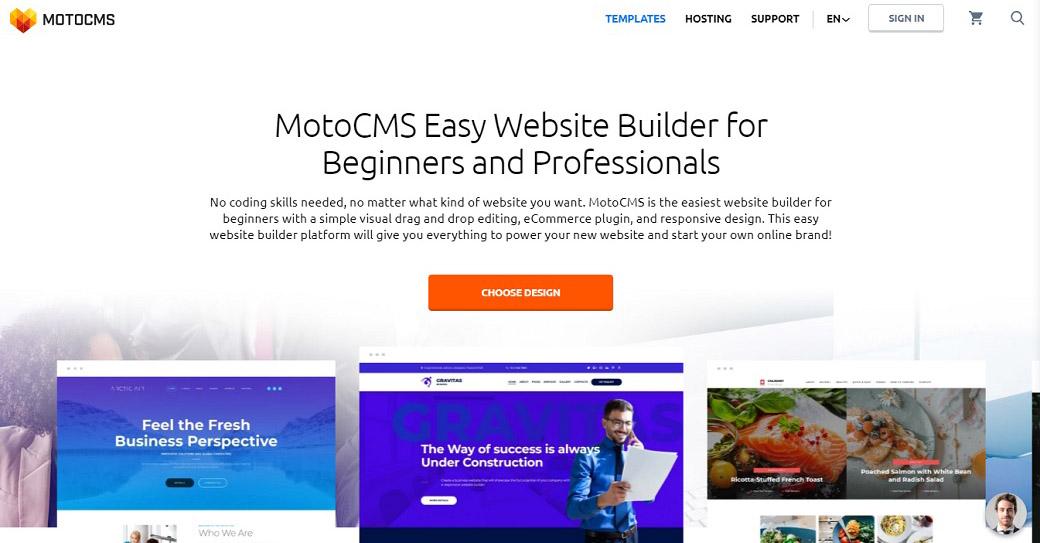MotoCMS Best Website Builder for Artists