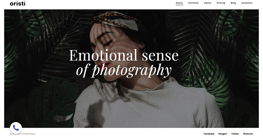 Web Template for Creative Photo Portfolio