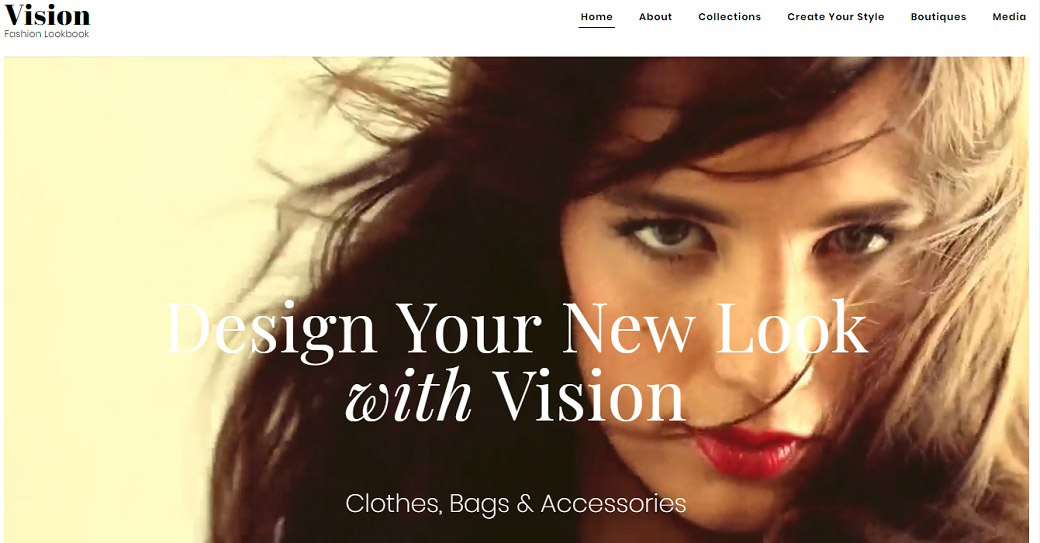 Lookbook Website Template for Fashion Sites