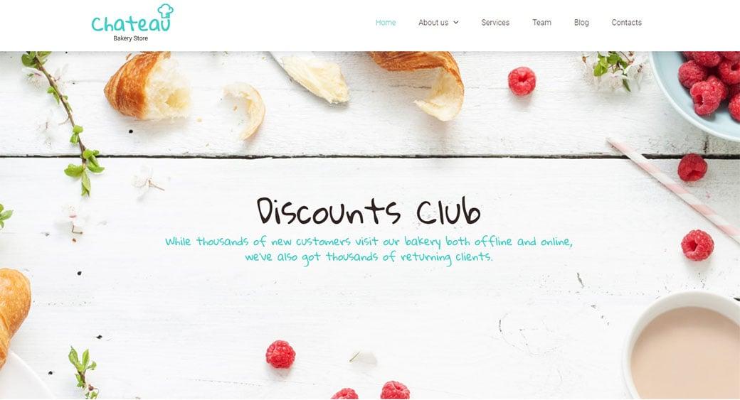 Responsive Website for Bakery Store