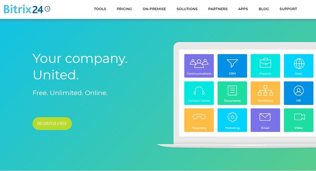 Bitrix24 system for customer retention
