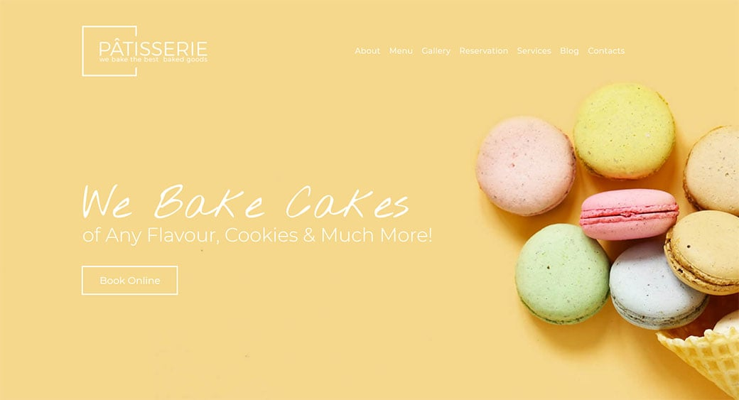 Cake Shop Website Template