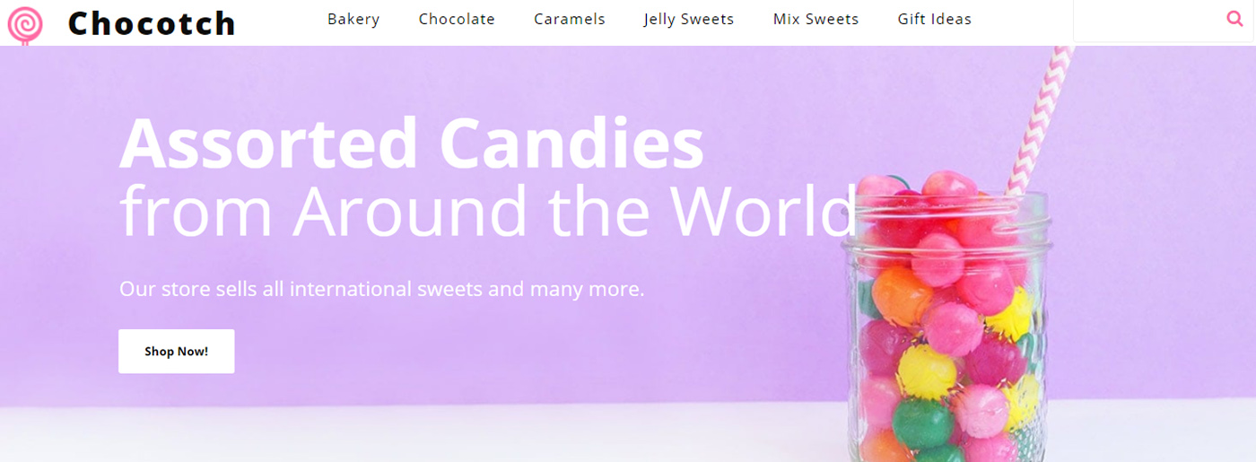 Candy Store Website Template for Sweets Shop