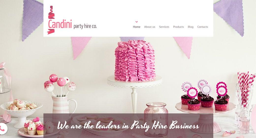 Sweets Manufacturer Website Design