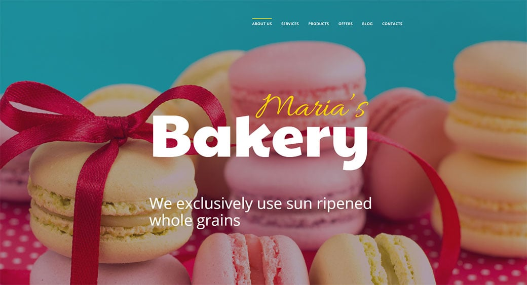 Template for Chief Cook Bakery Website