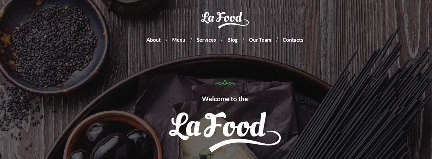 Elegant Food Website