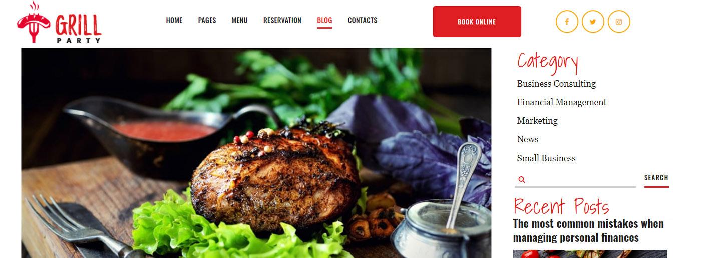 Food Blog Post