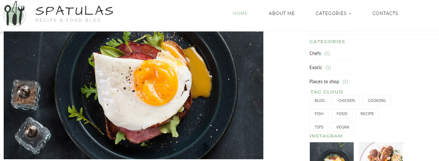 Food Blog Template