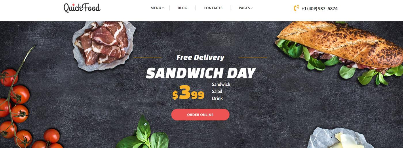 Food Ordering Website Template