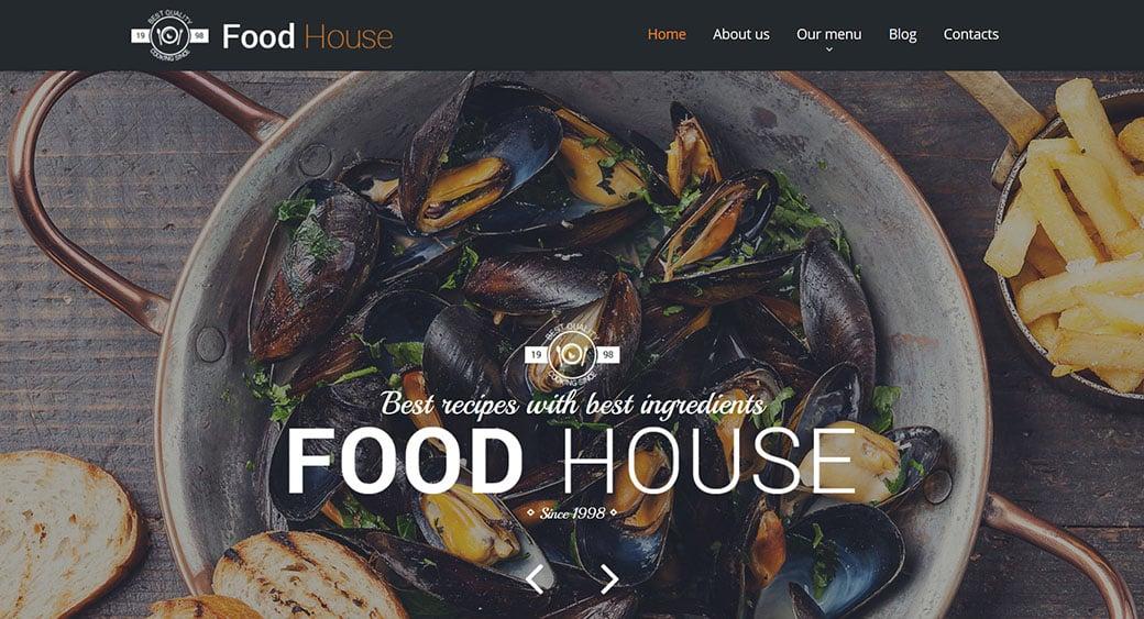 Food Web Design for Cafe Restaurant Websites