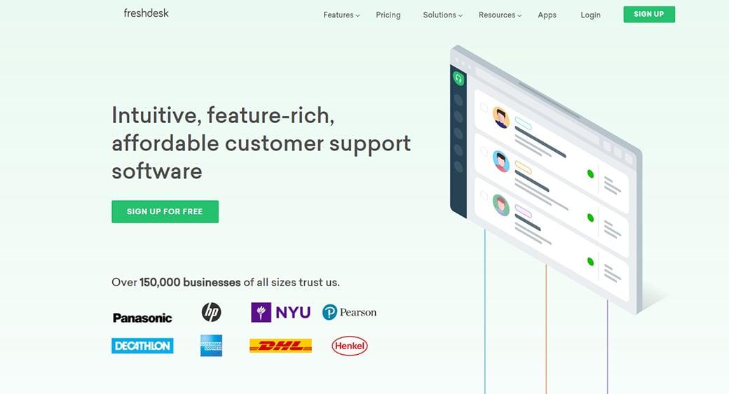 Freshdesk customer support software