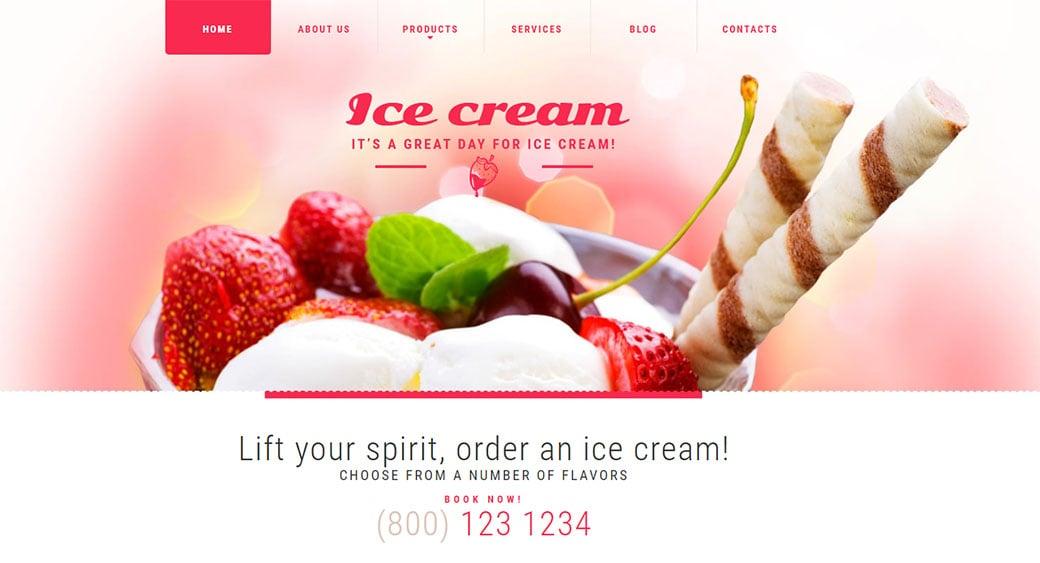 Food Website Design