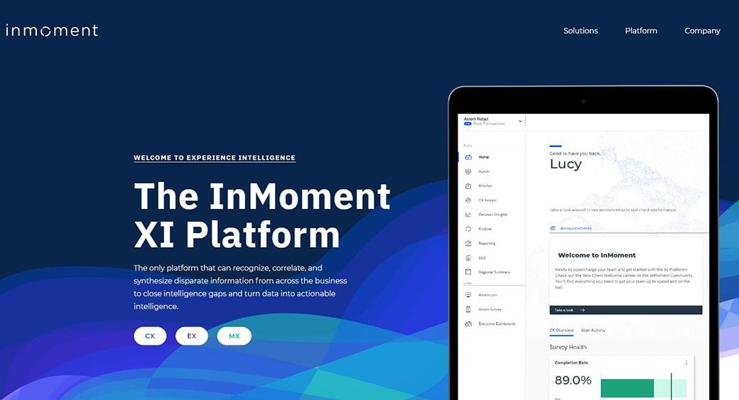 InMoment XI platform