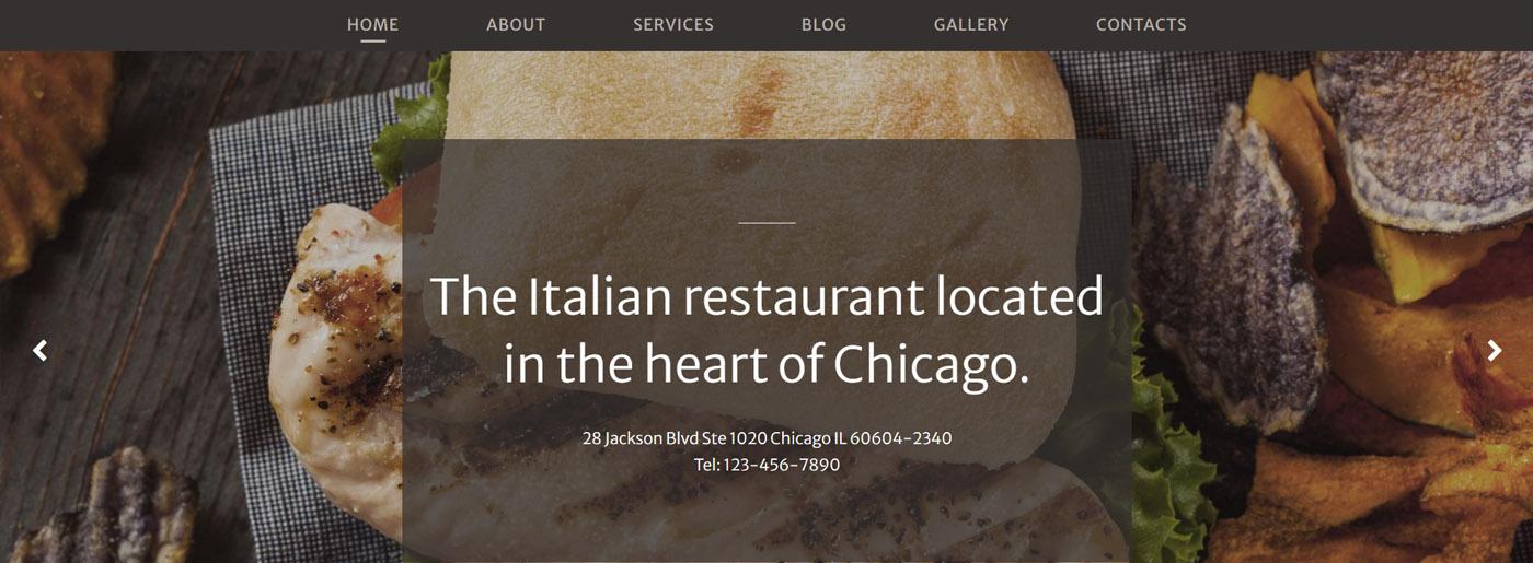 Luxury Restaurant Website Template