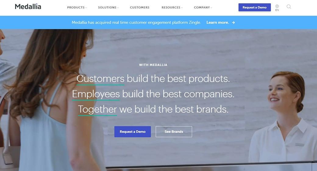 Medallia customer engagement platform