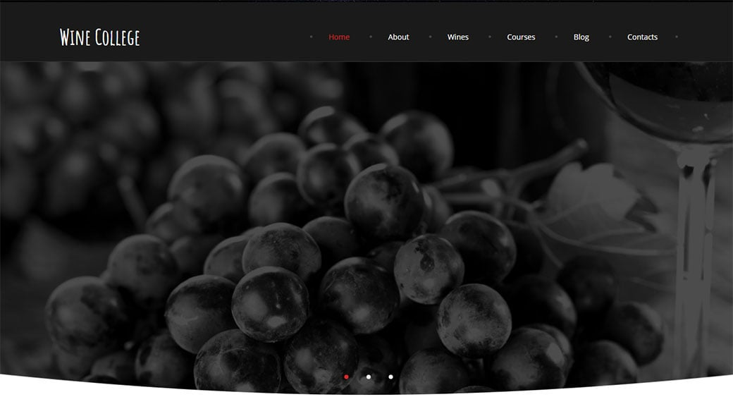 Online Wine Club Template