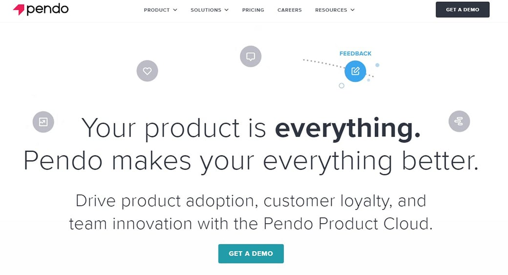 Pendo Platform for client loyalty
