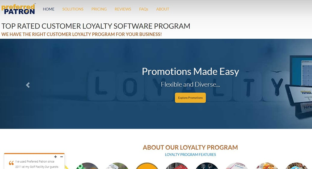 Preferred Patron Loyalty software