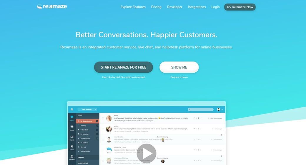 Reamaze integrated customer service