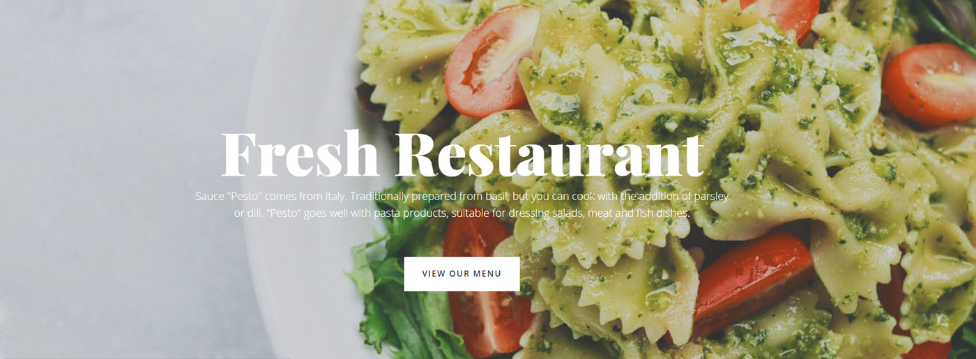 Restaurant Web Template