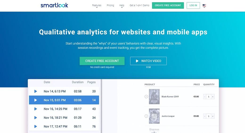 Smartlook analytics