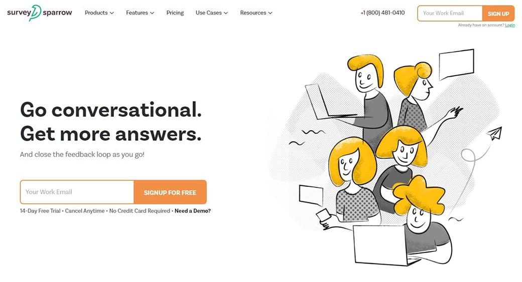 SurveySparrow feedback tool