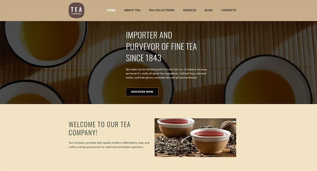 >Online Tea Store Theme