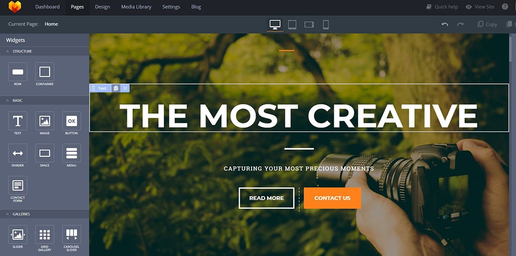 website builder for freelancers - drag-and-drop functionality