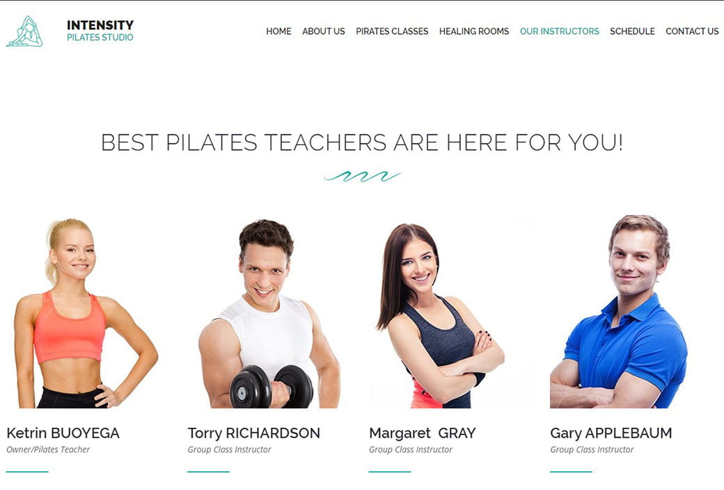 sports websites - pilates instructors