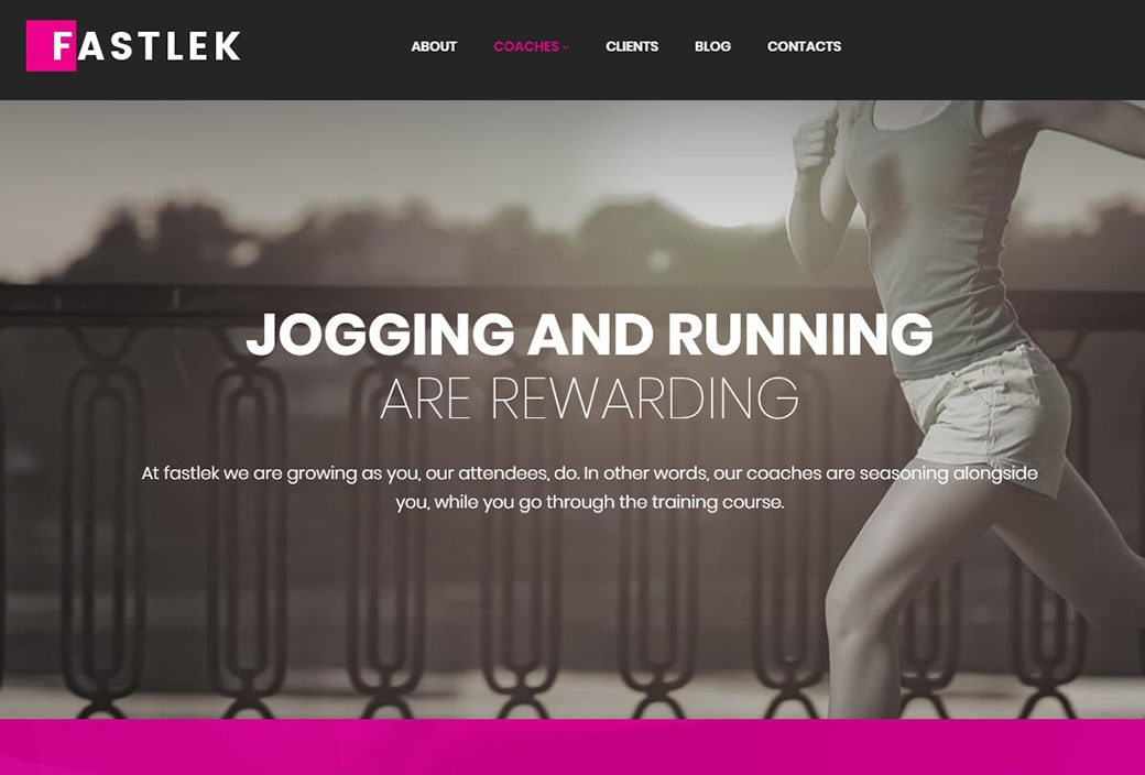 sports websites - jogging and running