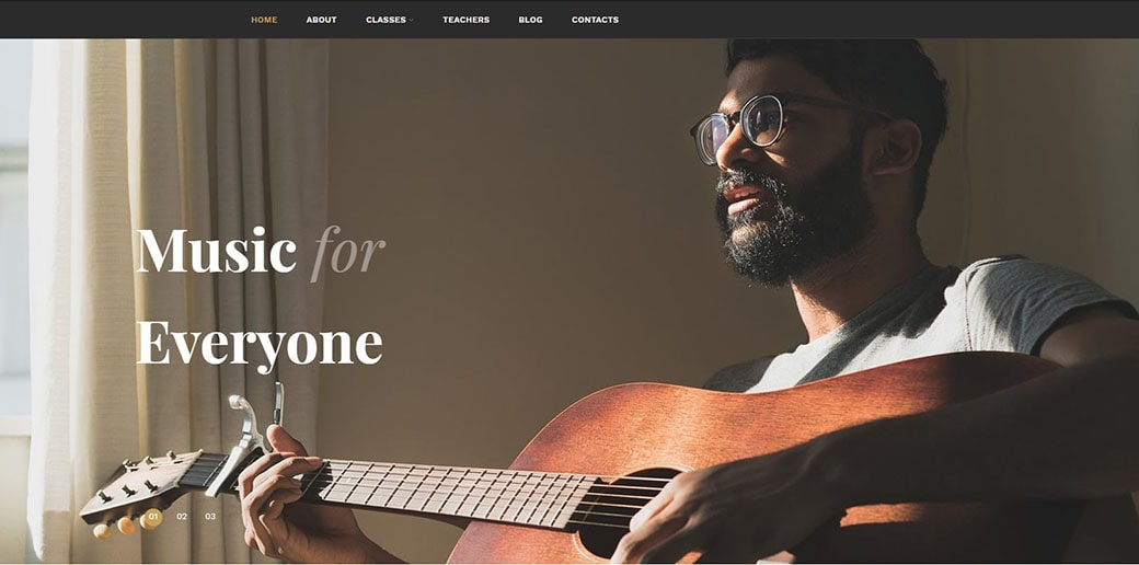 website builder for musicians - music school