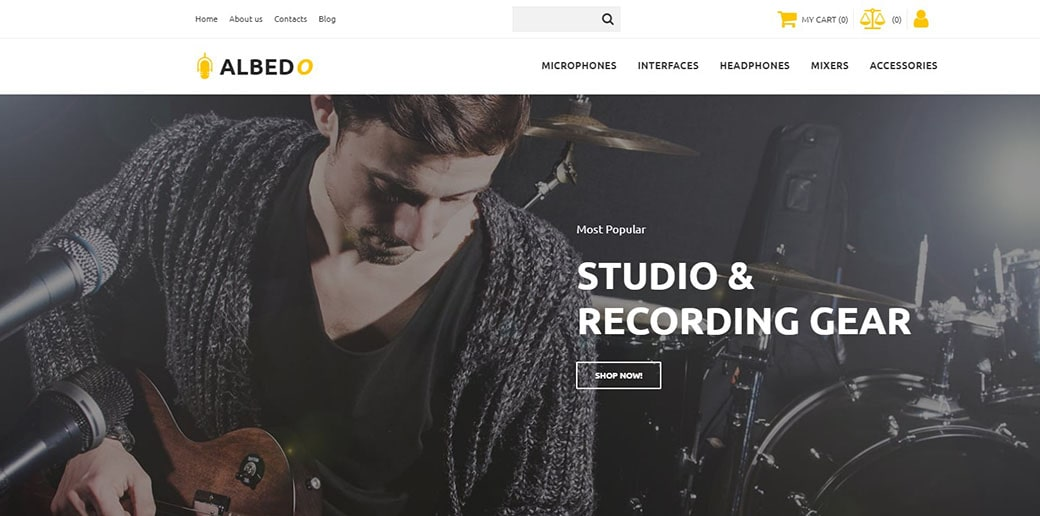 website builder for musicians - music store