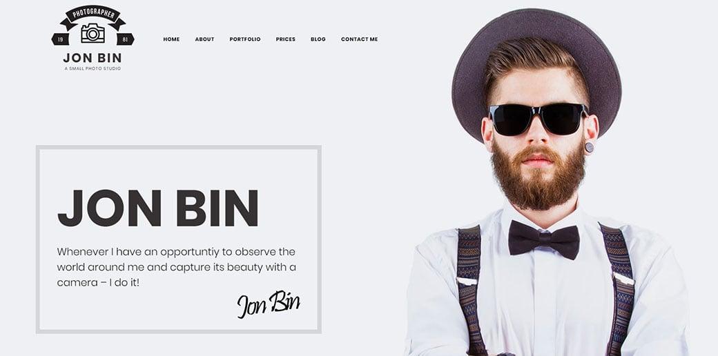 website builder for freelancers - photographer