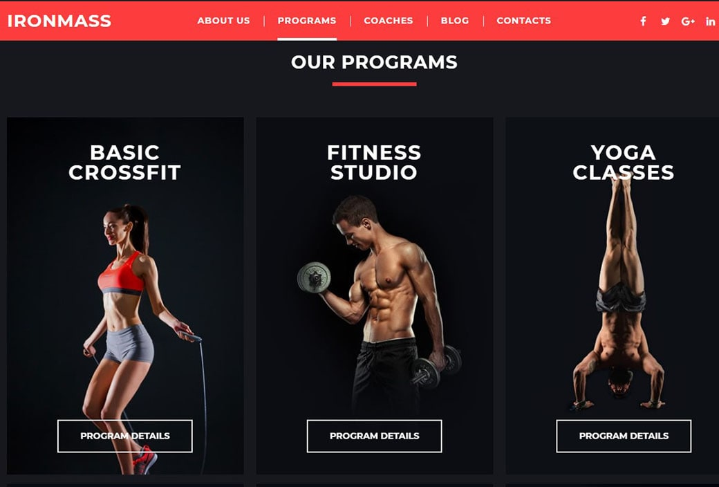 sports websites - programs