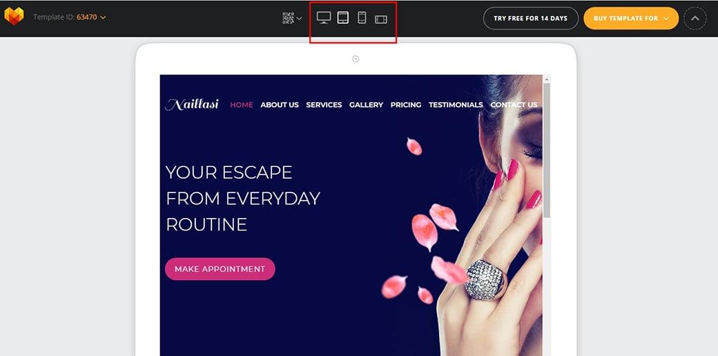 website builder for freelancers - responsive design