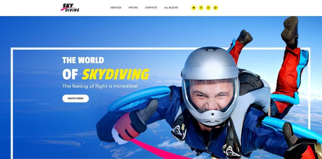 skydiving website