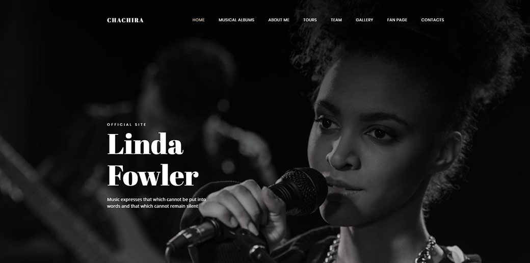 website builder for musicians - songwriter
