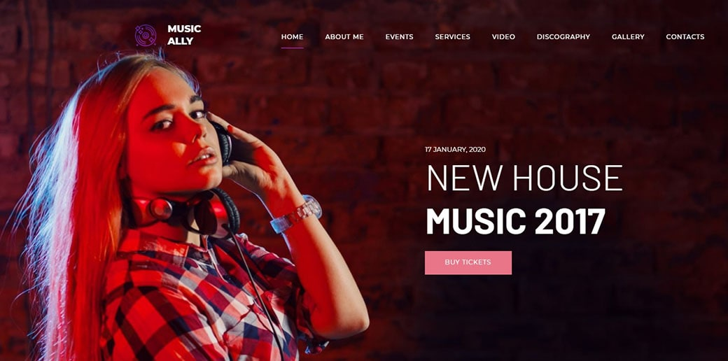 website builder for musicians - dj